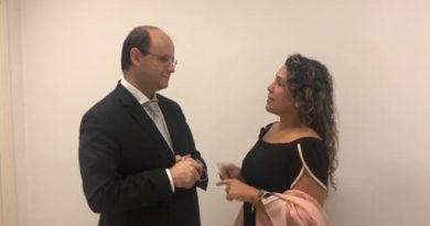 Secretário de Educação de Dória recebe Cordélia em São Paulo