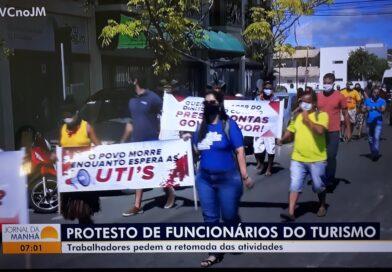 Protesto em Porto Seguro cobra as UTIs prometidas pelo governador