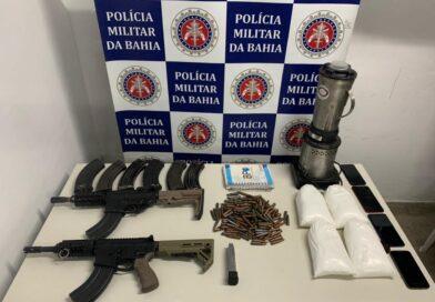 PM apreende armas e drogas no Projeto Mangabeira em Porto Seguro